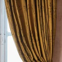 Angel Strawbridge Chateau Bamboo Lined Tape Top Curtains Ochre
